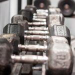 Weights in the row in a gym - i-fit Club - Palestra a Cesano Boscone
